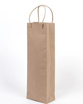 borsa di carta per bottiglia singola
